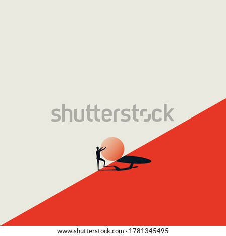 Sisyphus Concept Vector Stock photo © THP