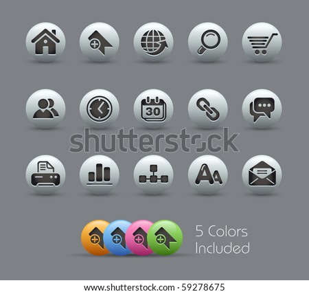 Web Icons // Black Series Stock photo © Palsur