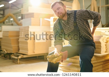 Worker With Back Pain Stock photo © AndreyPopov