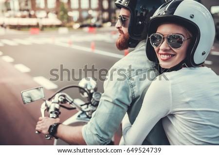 Couple on motorcycle Stock photo © photography33