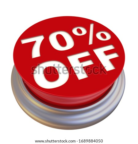 70 percentages discount 3d red circle label stock photo © marinini