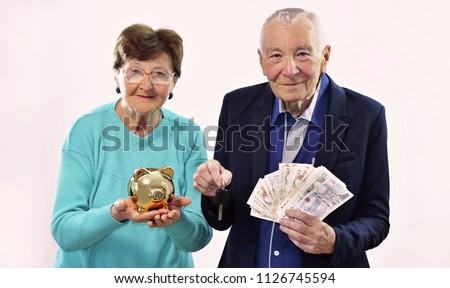 quebrado · moedas · isolado · branco · negócio · dinheiro - foto stock © jonnysek