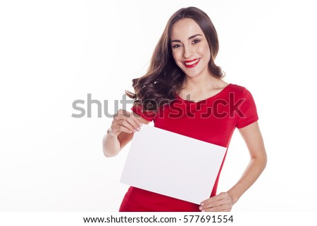 Beautiful woman in red dress isolated on white background. Studi Stock photo © Victoria_Andreas
