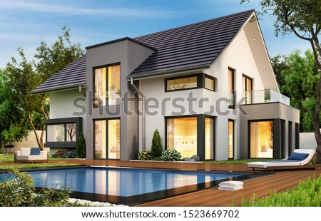 modern contemporary home Stock photo © ArenaCreative