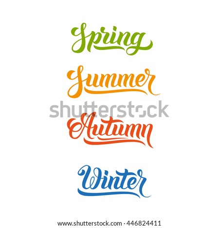 spring and summer words stock photo © timurock