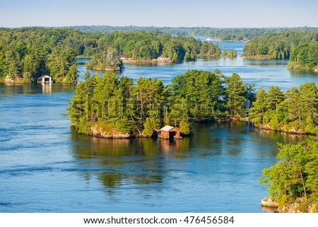 Grond duizend meer landschap Finland berg Stockfoto © Stocksnapper