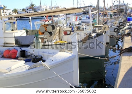 traditional menorquina fisherboats formentera port Stock photo © lunamarina
