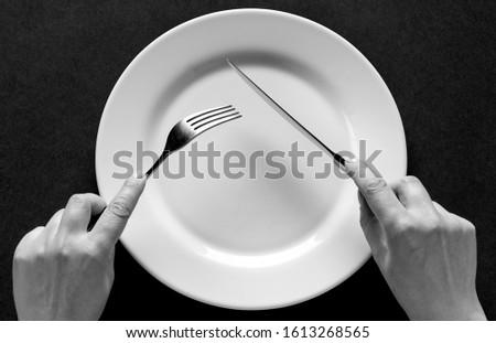 Propre table couteau orange gérer métal Photo stock © Digifoodstock