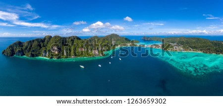 Panorâmico ver phuket praia Tailândia verão Foto stock © bloodua