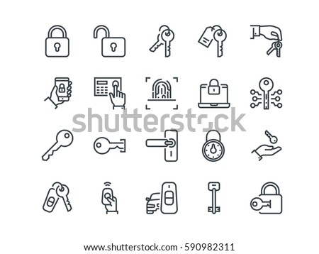 code safe icon vector outline illustration Stock photo © pikepicture
