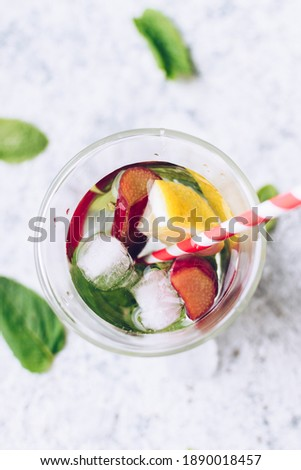 Healthy vitamin rhubarb summer drink Stock photo © furmanphoto