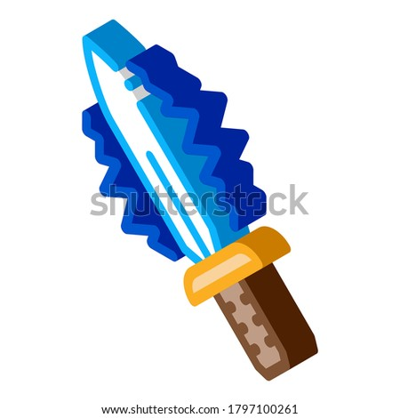 Sparkle Sword isometric icon vector illustration Stock photo © pikepicture