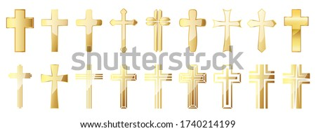 gold cross stock photo © olira