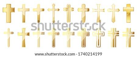 család · kereszt · gyerekek · szeretet · fény · jézus - stock fotó © olira