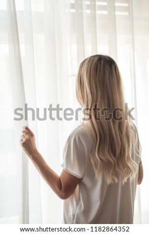 Stock photo: blonde looking unhappy