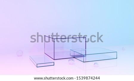brand in blue glass cubes Stock photo © marinini