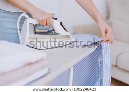 feliz · mulher · branco · trabalhar · imprensa - foto stock © photography33