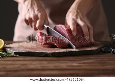 meat slices Stock photo © taden