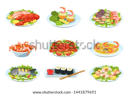 isolated mussel and shrimp soup Stock photo © M-studio