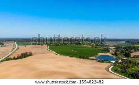 Bomen veld blauwe hemel wolken hemel bos Stockfoto © nemalo