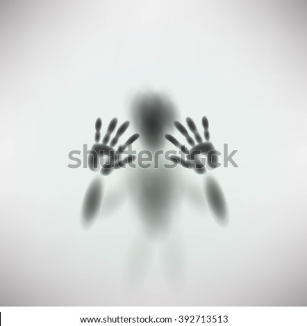 Diffused silhouette of a man Stock photo © stockyimages