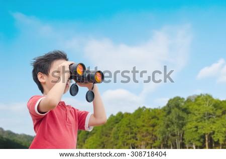Erkek dürbün orman özgürlük şapka Stok fotoğraf © wavebreak_media
