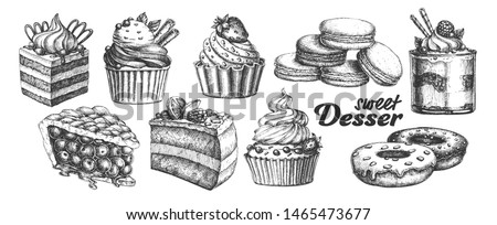 Zoete Dessert Set Stockfoto © pikepicture
