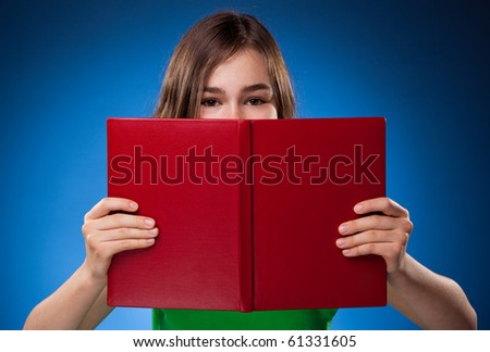 Girl, 14 reading Stock photo © IS2