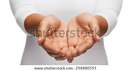 Cupped hand of a woman Stock photo © wavebreak_media