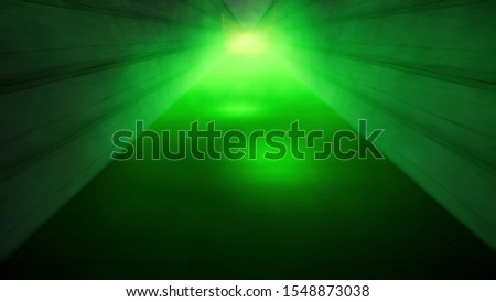 neon light pathway in red and green color Stock photo © SArts