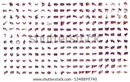 Grande raccolta vettore bandiere Haiti segno Foto d'archivio © butenkow