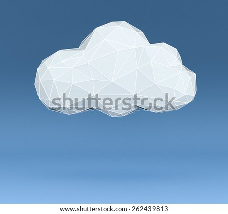 Lowpoly Cloud Data Stock photo © limbi007