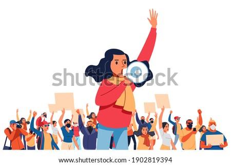 Jeunes personne haut-parleur distribution Photo stock © ra2studio