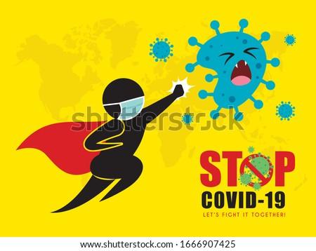 Stop Viruses Cartoon Sign Stock photo © Voysla