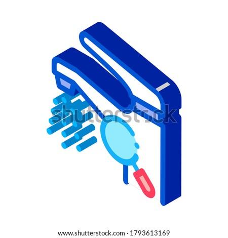 Robinet recherche isométrique icône vecteur signe Photo stock © pikepicture