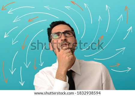 Stock photo: Thinking choices
