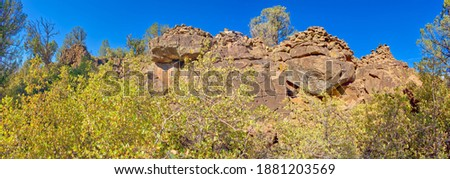 Rock wall along a wilderness trail Stock photo © wildnerdpix