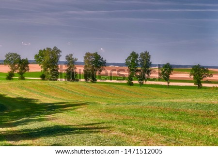 trator · campo · República · Checa · prado · maquinaria · ao · ar · livre - foto stock © artush