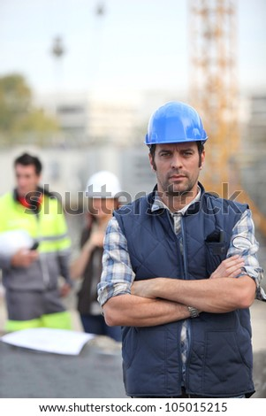 Foreman stood in front of crane Stock photo © photography33