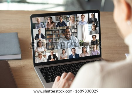 female employee speaking in meeting Stock photo © photography33