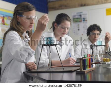 Chemie student school ogen haren groene Stockfoto © photography33