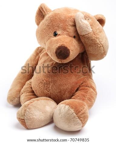 Teddybeer geïsoleerd witte kinderen gelukkig verjaardag Stockfoto © EwaStudio