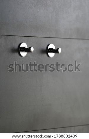 Chrome cloths or towels hanger the bathroom accessory Stock photo © JohnKasawa