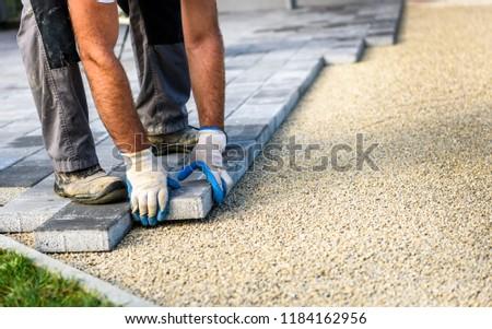 каменщик бизнеса стороны строительство работу домой Сток-фото © photography33