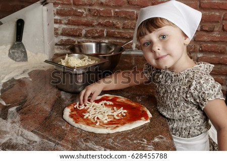 Pequeño manos pizza frescos alimentos Foto stock © gewoldi