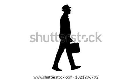 портфель · бизнесмен · стороны · изолированный - Сток-фото © dgilder