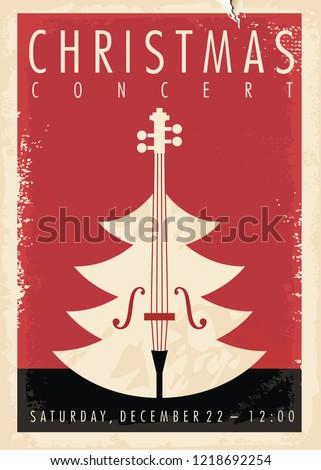 Concerto Natale illustrazione party silhouette band Foto d'archivio © adrenalina