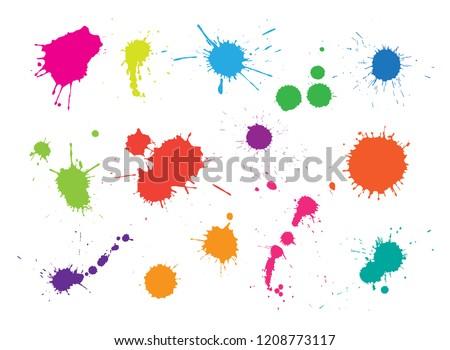 Spots Farbe Vektor Bild kann einfach Stock foto © Mr_Vector