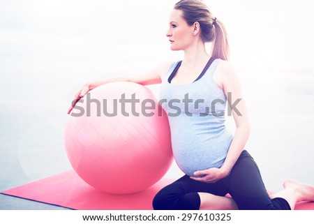 Pilates woman control balance exercise workout Stock photo © lunamarina