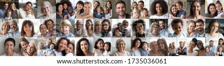 Portret gelukkig gezin twee kinderen focus Stockfoto © Paha_L